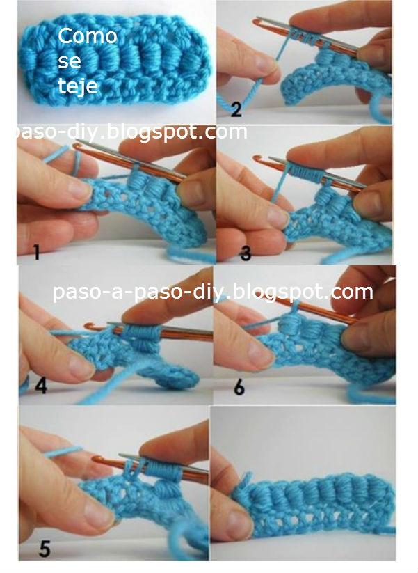 C mo tejer punto gusano al crochet tutorial todo crochet - Como tejer mantas al crochet ...