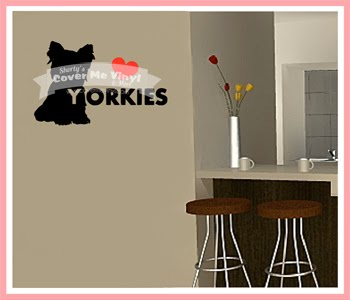 Love Yorkie Wall Decal