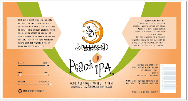 Spellbound Brewing, New Jersey, Craft Beer, Peach, IPA
