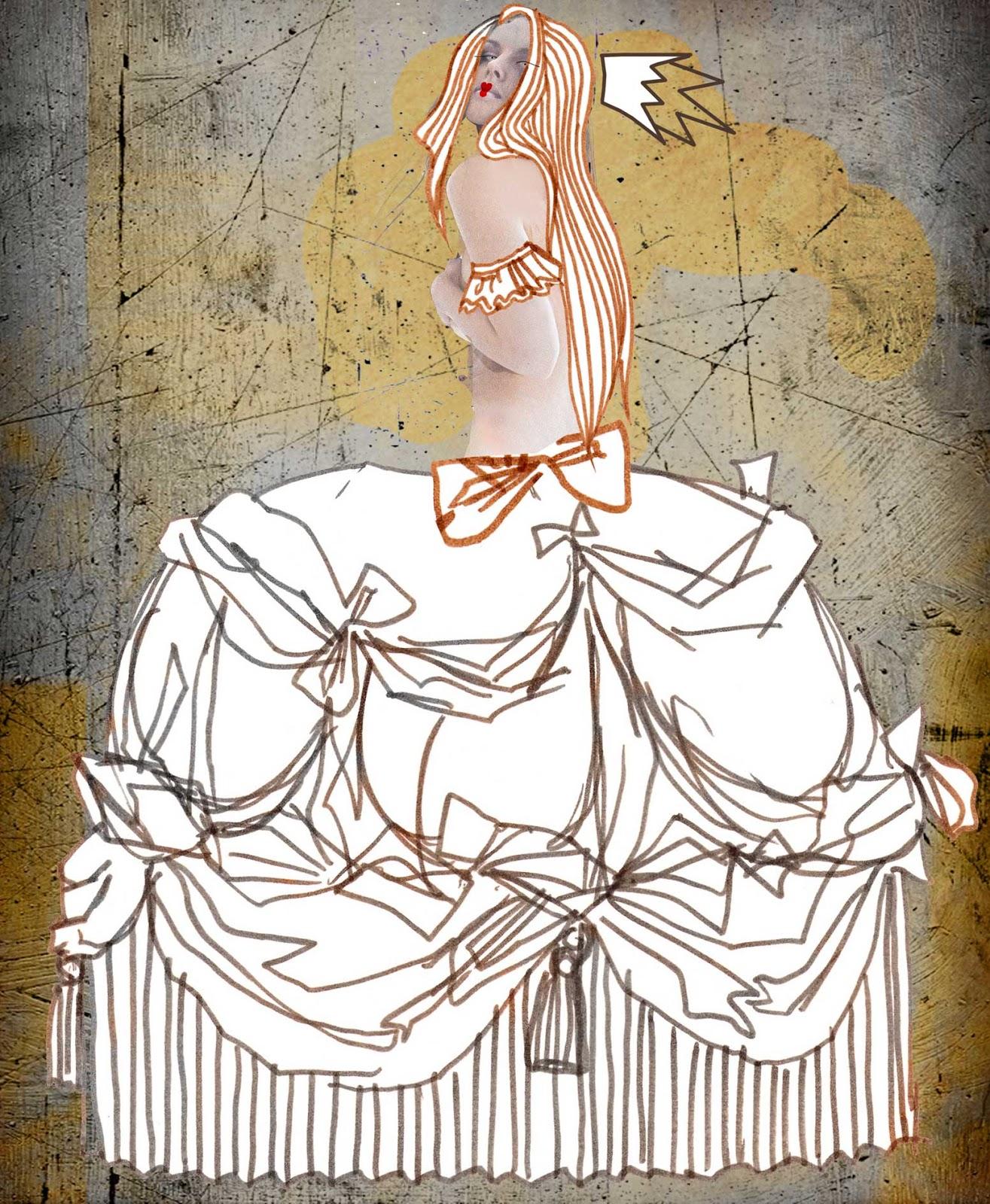 ilustracje make up kobieta kobiece Urbaniak portrety ilustracja na blogi strony internetowe do artykułów wierszy opowiadań illustration for magazines articles book poems princess