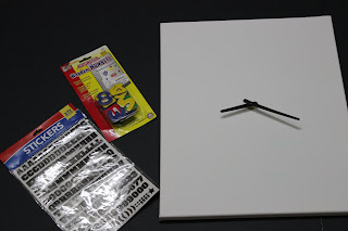 supplies to make whatever clock