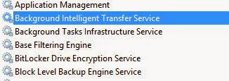 stop Background Intelligent Transfer Service