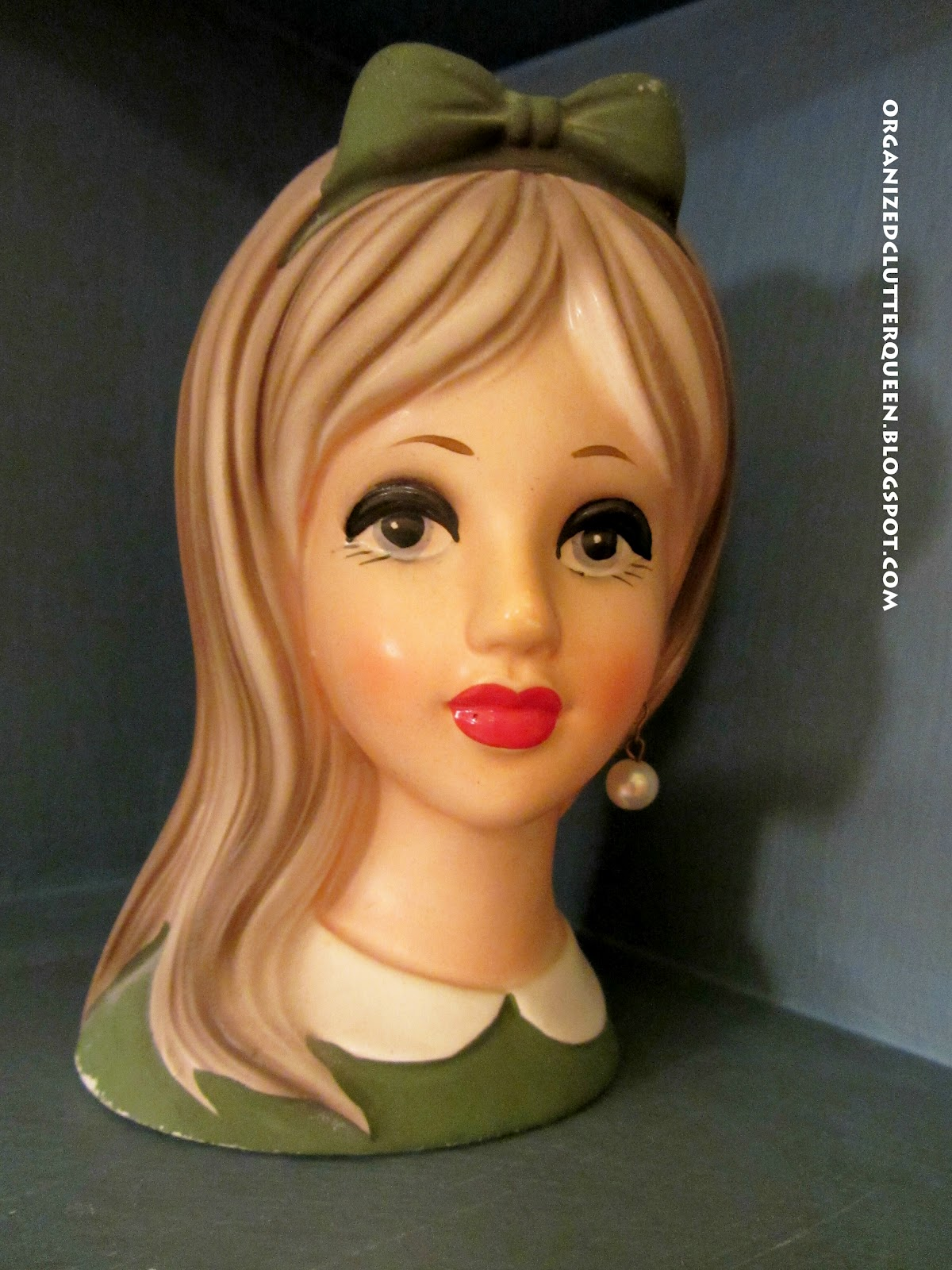 My vintage bathroom lady head vases organized clutter she is a teeny bopper by napco reviewsmspy