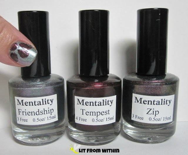 Bottle shot:  Mentality Friendship, Tempest, and Zip.