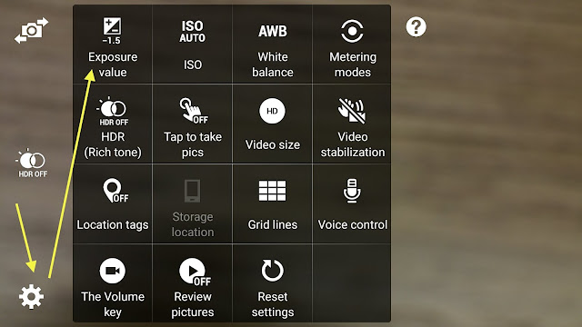 Note 4 Samsung Camera settings