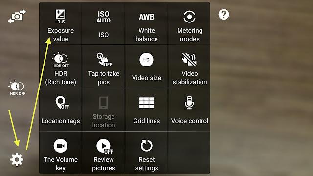 Note 4 Samsung Camera settings