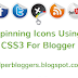 Spinning Social Icons With CSS3 For Blogger
