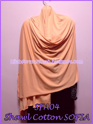 shawl cotton besar plain