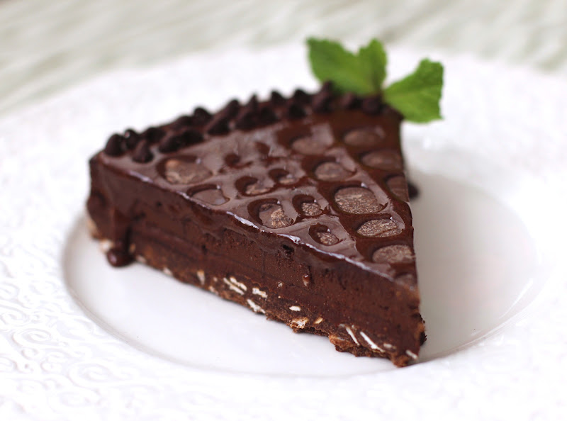 Healthy Dark Chocolate Truffle Tart
