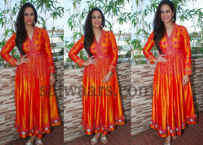 Mona Fancy Orange Salwar