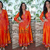 Mona Fancy Orange Salwar