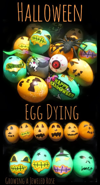 Halloween Egg Dying- why should Easter have all the fun?