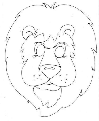 Mascaras de animales salvajes moldes - Imagui