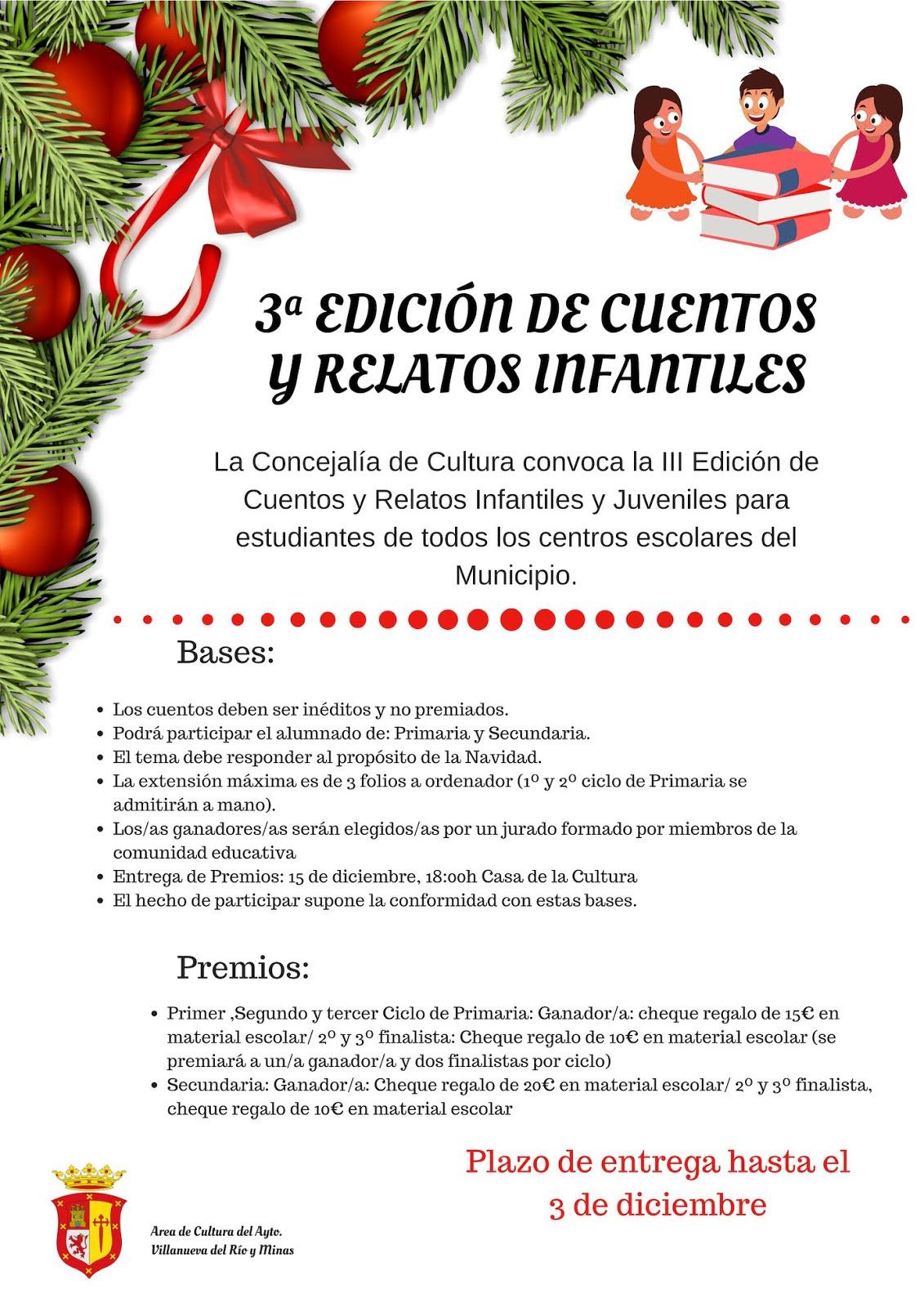 3ª Edición del Concurso de Cuentos y Relatos Infantiles