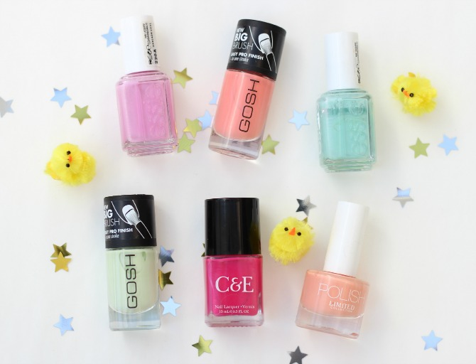 6 Nail polishes for Easter