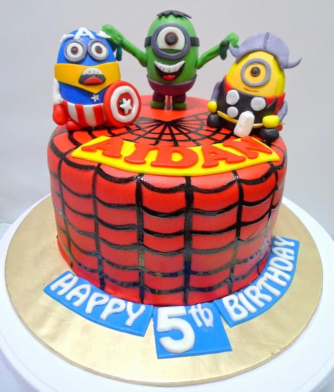 Sherbakes Superhero minion cake