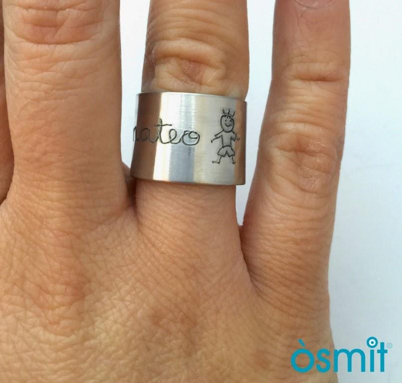 anell noms grabats osmit joies d'alumini