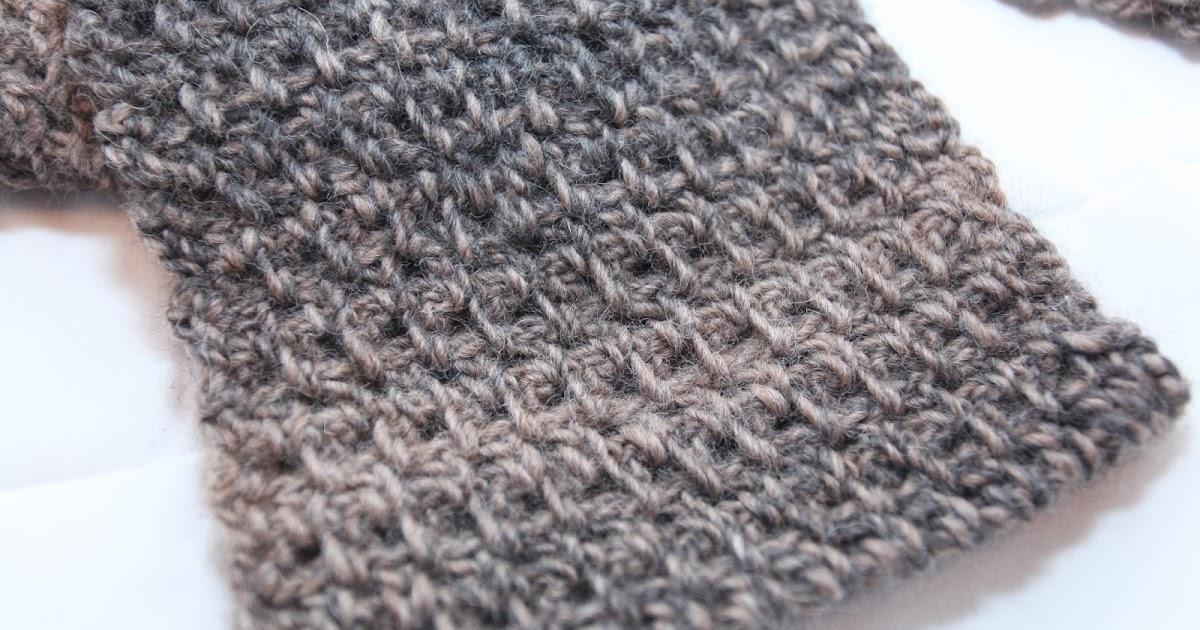 Blissfully Hooked: Granite Stitch Men's Scarf