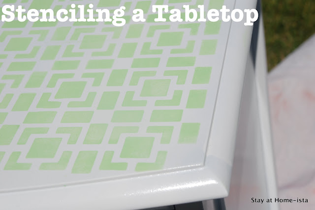 how to stencil a tabletop