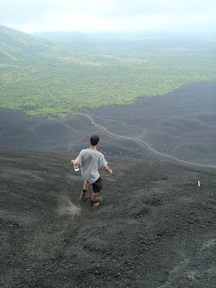David, Alpha 2, heading down Cerro Negro