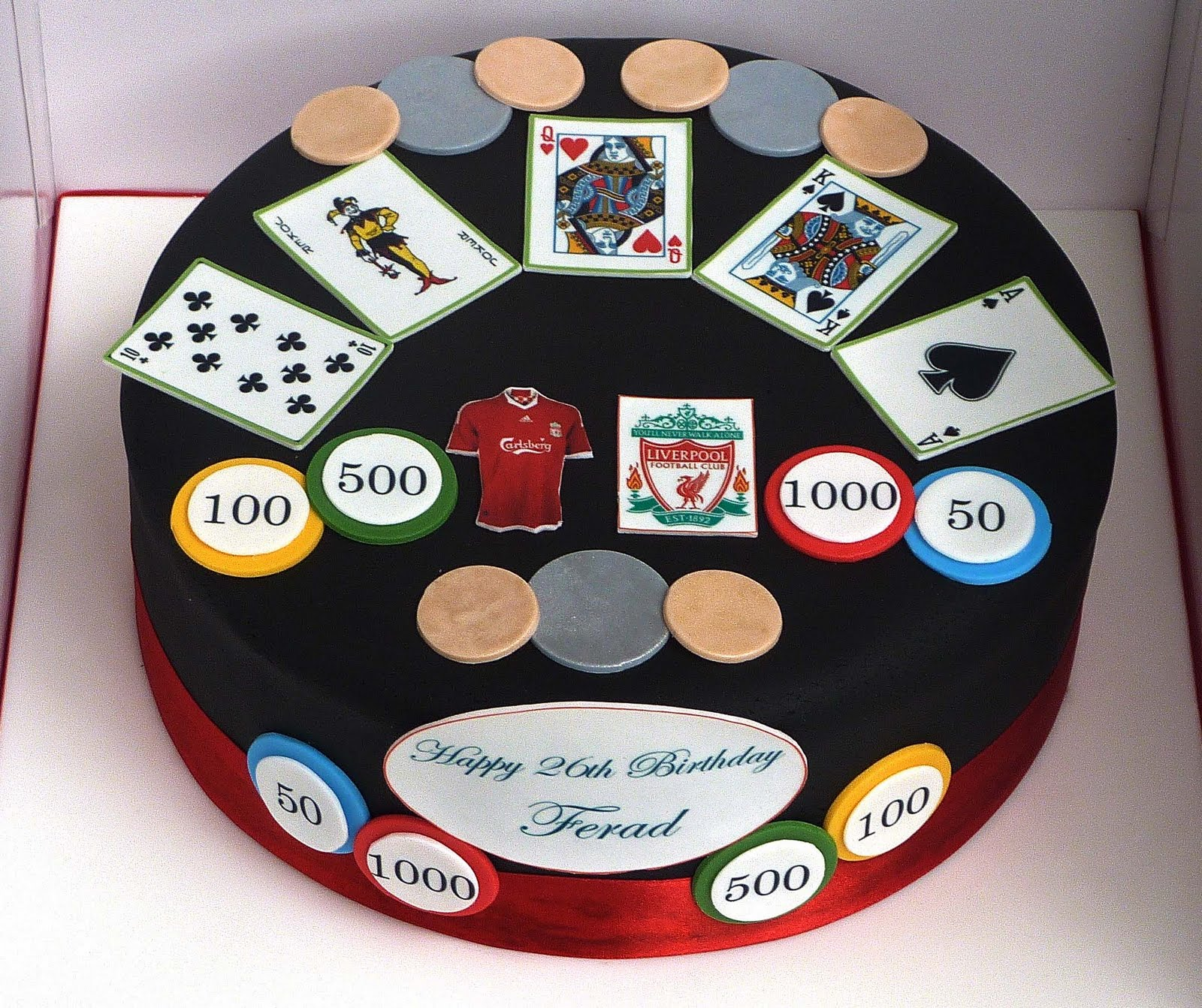 Little Miss Cupcakes Casino And Liverpool Birthday Cake