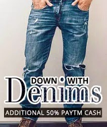 Flat 50% Extra Cashback on Men's Top Brand Jeans (Lee, Levis, Wrangler, UCB & more) @ Paytm