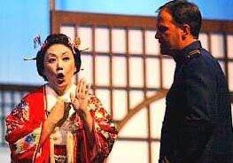 """Donal as Pinkerton in """"Madama Butterfly"""" with Miyuki Morimoto in Malaysia."""