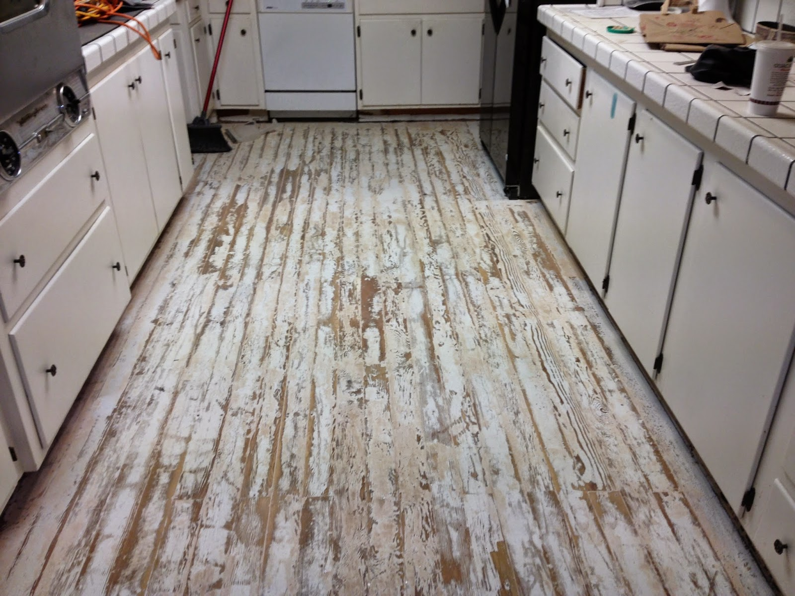 Painted Kitchen Floor | Barnaclebutt