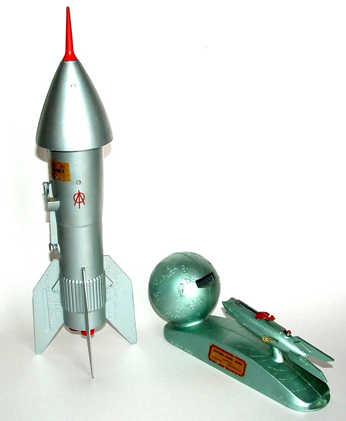 The incredible world of ebay rocket banks from the 50s strato bank and astro manufacturing - Rocket piggy bank ...