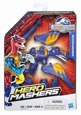 JUGUETES - Jurassic World : Hero Mashers  Dimorphodon | Dinosaurio | Figura - Muñeco Toys | Producto Oficial Película 2015 | Hasbro B2162 A partir de 4 años