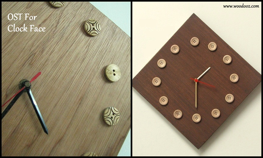 One side teak ost for your big medium and small for Small clocks for crafts