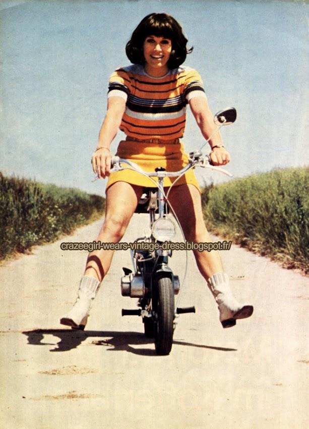 striped dress - 1968 stripe 60s 1960 moped