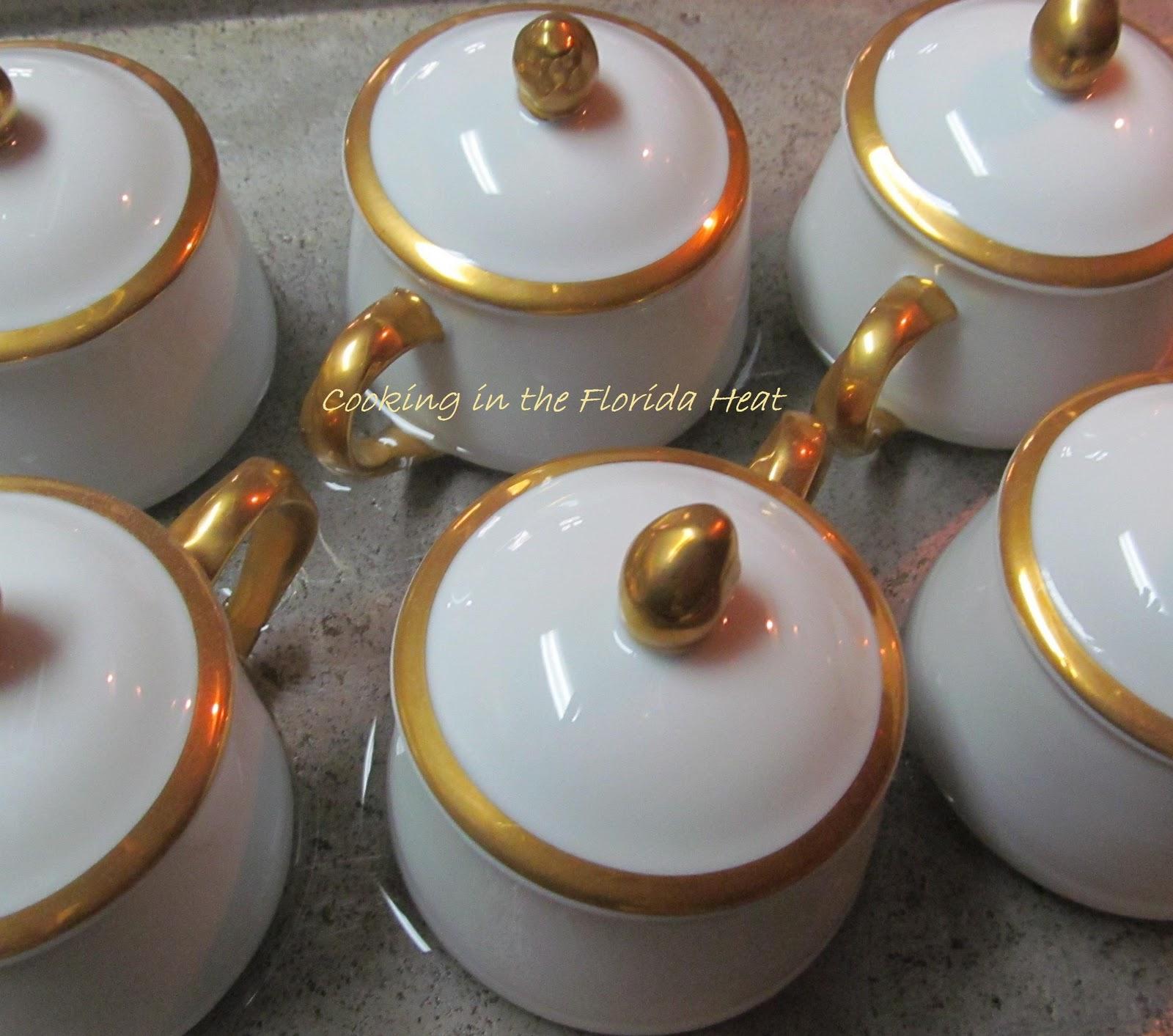 put your 6 little oven proof pots either pot de crème or ramekin in a ...