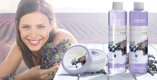 Gel Limpiador Facial ?Pure Nature: Blueberry & Lavender? de ORIFLAME
