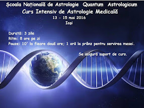 Curs astrologie medicala la Iasi