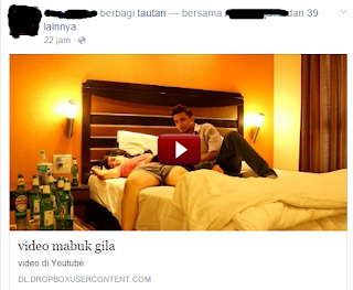 mengatasi video mabuk gila di facebook virus tag