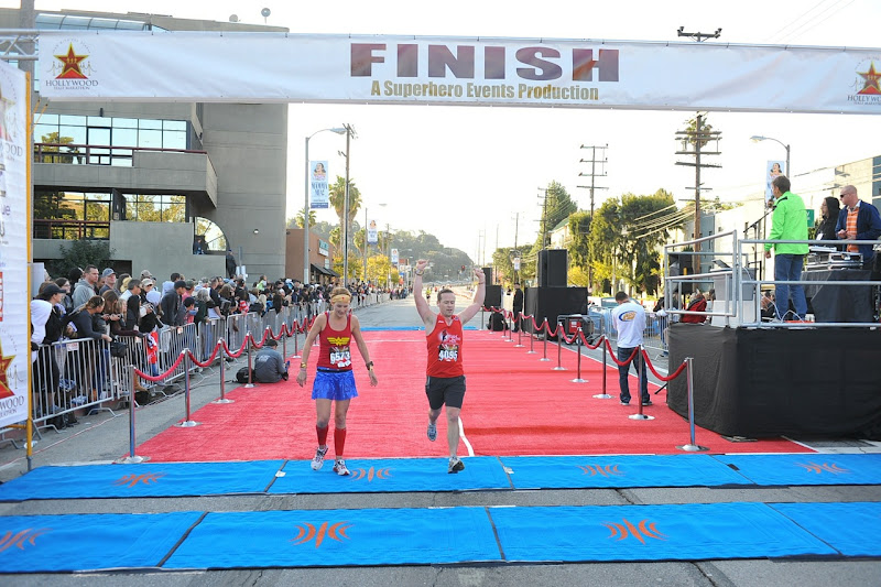 Inaugural Hollywood Half Marathon Finish