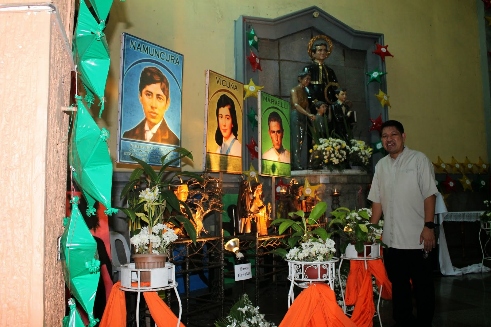 "Visit of the Relics of the 3 young ""salesian"" saints"