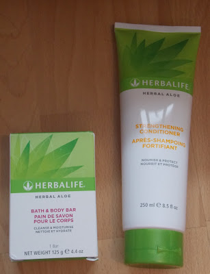 Herbalife Herbal Aloe Bath and Body Bar and Strengthening Conditioner