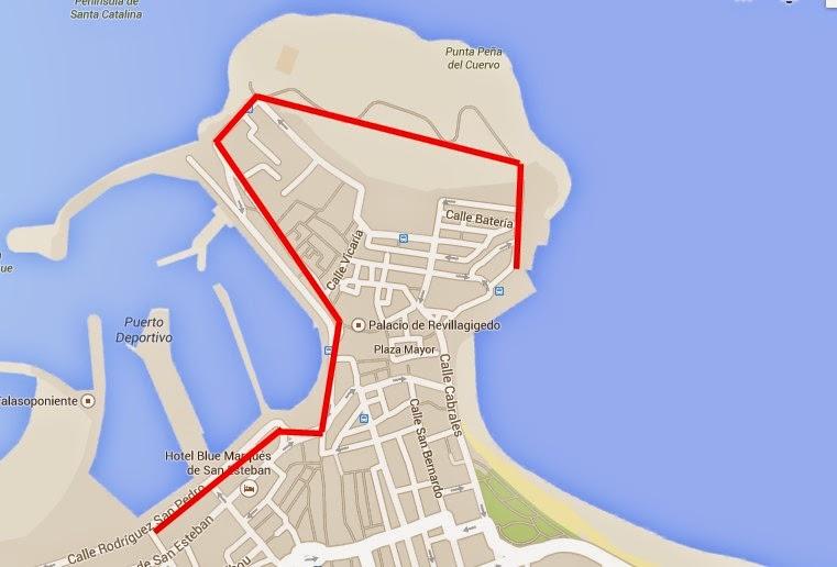 mapa ruta gijon