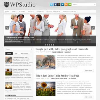 WPStudio blog template. magazine blogger template style. magazine style template blogspot