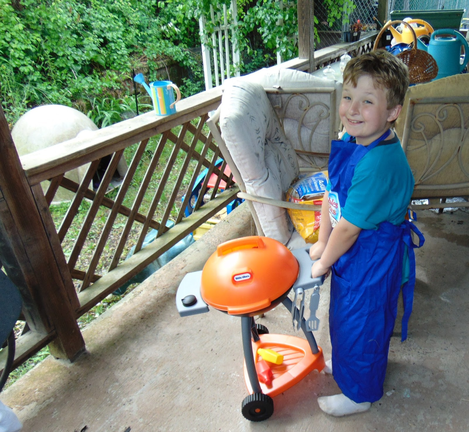 The Little Tikes Sizzle N Serve Grill Has Wheels So My Boys Could Easily Move It Themselves