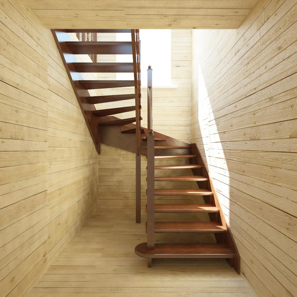 Лестница на 2 этаж в частном доПоделки