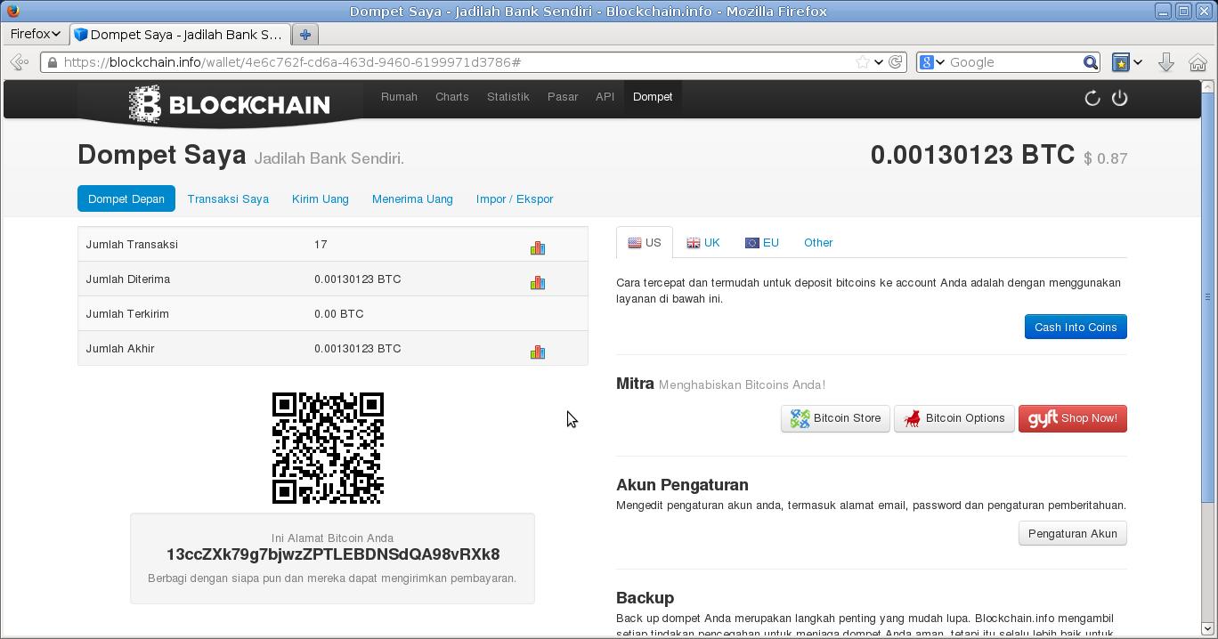 Cara Daftar Wallet BitCoin di Blockchain