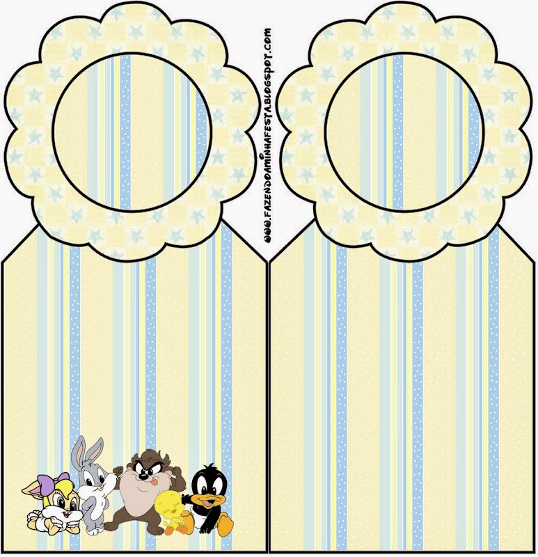Free Printable Book Marks of  Lonney Tunes Babies.