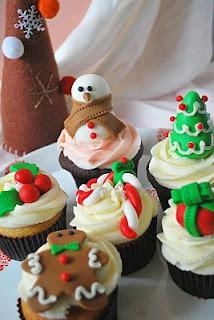 Cupcakes o Magdalenas de Navidad, parte 3
