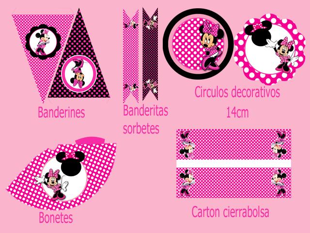 Kit imprimible gratis bebé Minnie - Imagui