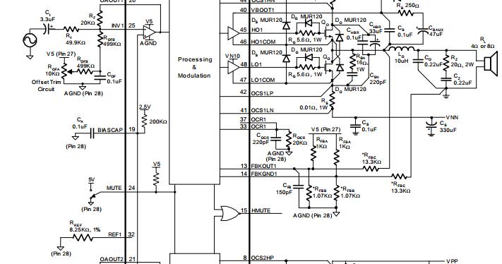 Stereo 300w 4 U03a9 Class T Digital Audio Amplifier