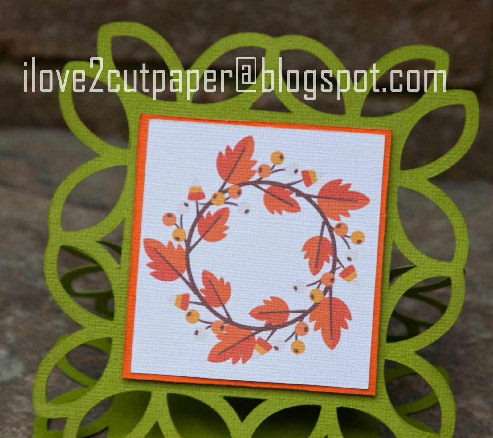 Print and Cut Fall Wreath