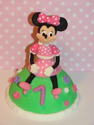 Topo para Bolo de Aniversrio Minnie